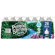 Poland Spring 100% Natural Spring Water, Deposit, 28 pk./20 oz.
