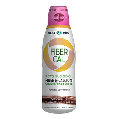 AgroLabs Fiber Cal Chocolate Strawberry Liquid Dietary Supplement, 32