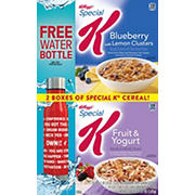 Kellogg's Special K Blueberry with Lemon Clusters and Fruit & Yogurt Variety Pack, 37.9 oz.