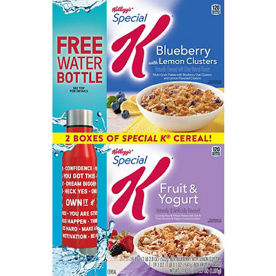 Kellogg's Special K Blueberry with Lemon Clusters and Fruit & Yogurt V