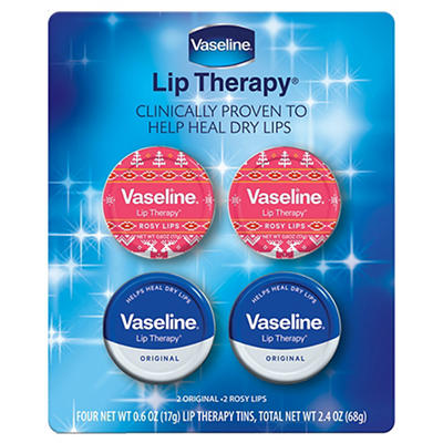 Vaseline Winter Lip Therapy, 4 pk./0.6 oz.