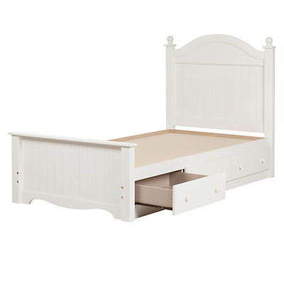 South Shore Savannah Twin-Size Bed - Pure White