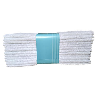 Berkley Jensen Five Star Hotel Washcloths, 12 pk. - White