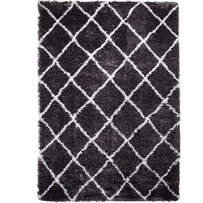 "Home Dynamix Carmela 7'10"" x 10'2"" Area Rug - Dark Gray/Ivory Diamond"
