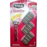 Schick Quattro for Women Razor with 12 Refill Cartridges