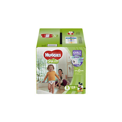 Huggies Little Movers Slip-On Diaper Pants, Size 5, 128 ct.
