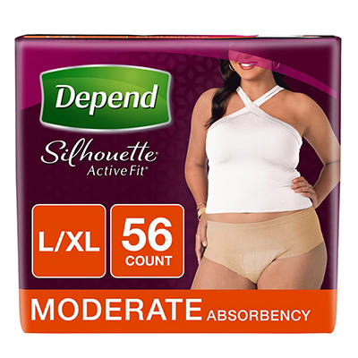 Depend Silhouette Active Fit Incontinence Underwear for Women with Mod