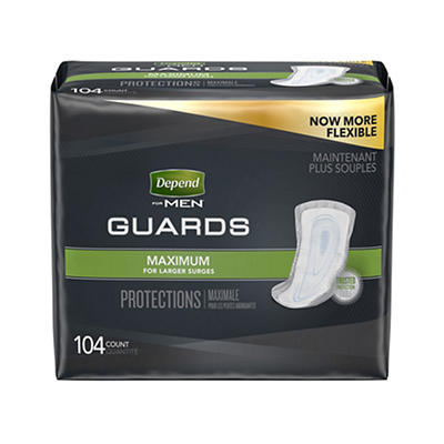 Depend Guards for Men with Maximum Absorbency, 104 ct.