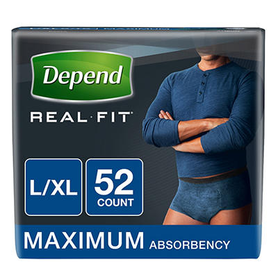 Depend Real-Fit Incontinence Underwear for Men with Maximum Absorbency