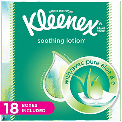 Kleenex Facial Tissues with Lotion, 1,350 sheets