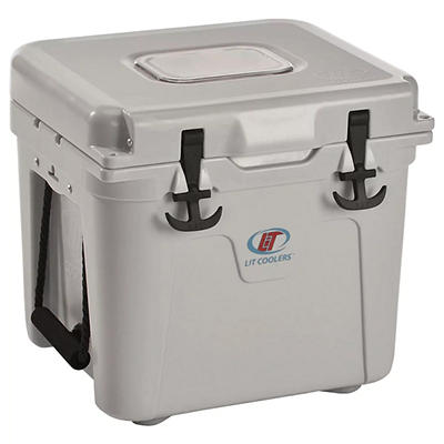 LiT Coolers Firefly Night-Sight 22-Qt. Cooler - Gray/Blue