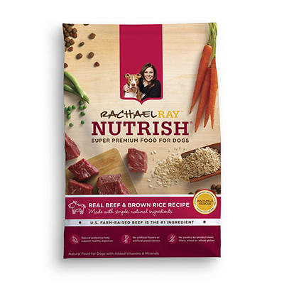 Rachael Ray Nutrish Real Beef & Brown Rice Recipe Dry Dog Food, 14 lbs