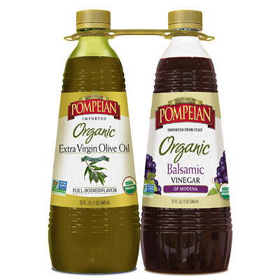 Pompeian Organic Extra Virgin Olive Oil, 32 oz. and Organic Balsamic V
