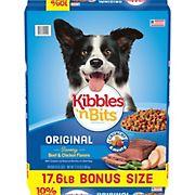 Kibbles 'n Bits Beefy Bits Savory Beef Flavor Dry Dog Food, 17.6 lbs.