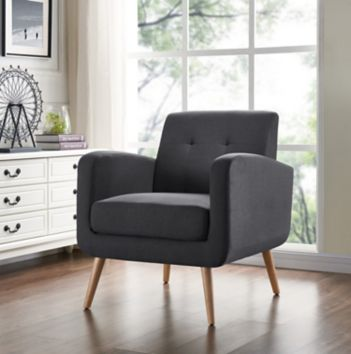 Handy Living Mid Century Modern Armchair Charcoallinen Bjs