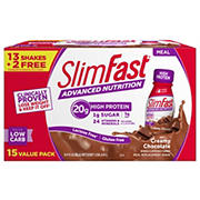 SlimFast Advanced Nutrition Creamy Chocolate Shake, 15 pk./11 fl. oz.