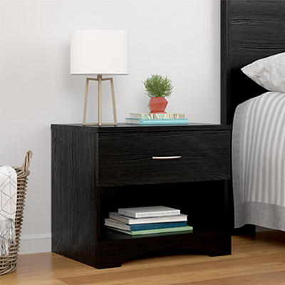 Ameriwood Home Crescent Point Nightstand - Black