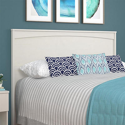Ameriwood Home Crescent Point Queen-Size Headboard - Vintage White