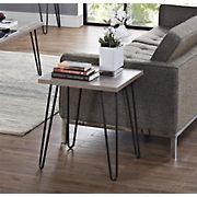 Ameriwood Home Owen End Table - Oak/Gray