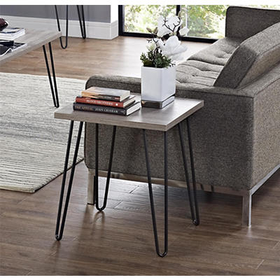 Ameriwood Home Owen End Table - Oak/Gray