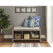 Ameriwood Home Penelope Entryway Storage Bench - Weathered Oak