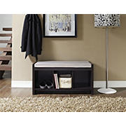 Ameriwood Home Penelope Entryway Storage Bench - Espresso