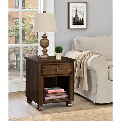 Ameriwood Home San Antonio Wood Veneer End Table - Espresso