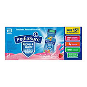 PediaSure Grow & Gain Kids' Nutritional Shake Strawberry Ready-to-Drink Bottles, 24 pk./8 fl. oz.