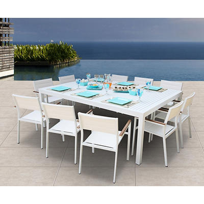 Bellini Home and Gardens Avallon 11-Pc. Outdoor Dining Set - White