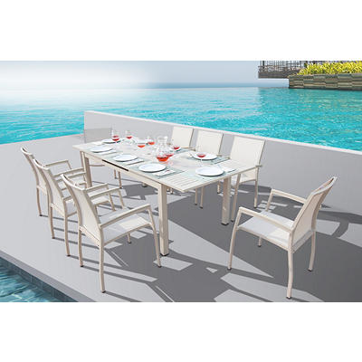 Bellini Home and Gardens Carina 9-Pc. Dining Set - Almond