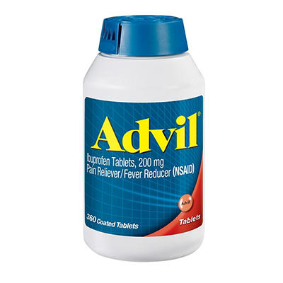 Advil 200mg Tablets, 360 ct.
