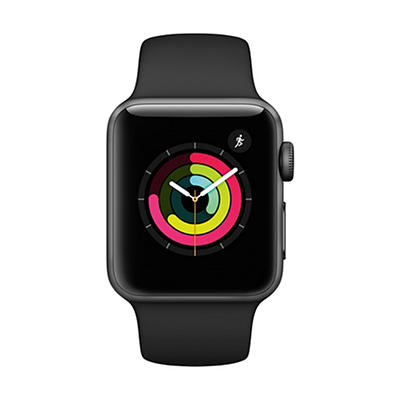 Apple Watch Series 3 with Space Gray Aluminum Case, 38mm - Black Sport