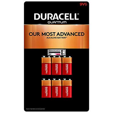 Duracell Quantum 9V Batteries, 6 ct.