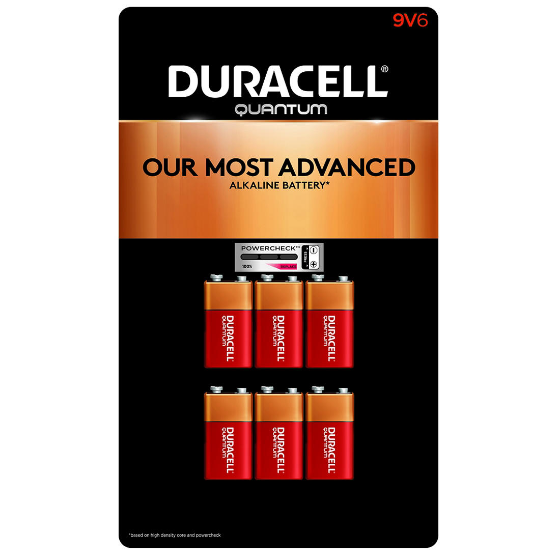 Duracell Quantum 9v Batteries 6 Ct