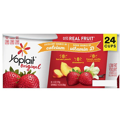 Yoplait Original Strawberry/Mountain Blueberry/Harvest Peach Low Fat Y