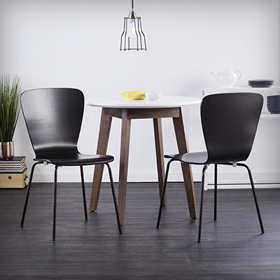 SEI Holly Martin Cadby Bentwood Side Chairs, 2 pk. - Black