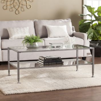 SEI Jace Cocktail Table - Distressed Silver