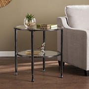 SEI Jace Round End Table - Black