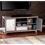 "SEI Mirada 52"" TV Media Stand - Mirrored/Silver"