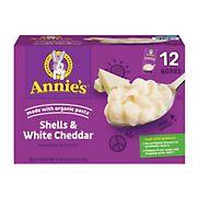 Annie's Shells & White Cheddar Sauce, 12 pk./6 oz.