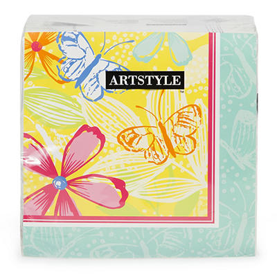 Artstyle 3-Ply Napkins, 120 ct. - Butterfly Bouquet