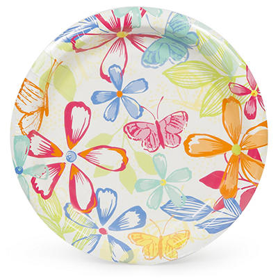 "Artstyle 10"" Plates, 40 ct. - Butterfly Bouquet"
