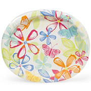 Artstyle Oval Plates, 35 ct. - Butterfly Bouquet
