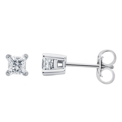 .25 ct. t.w. Princess-Cut Diamond Stud Earrings in 14k White Gold