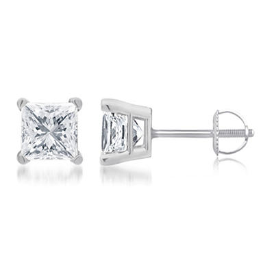 1.00 ct. t.w. Princess-Cut Diamond Stud Earrings in 14k White Gold