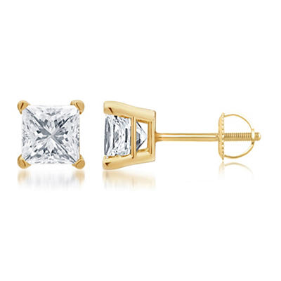 1.00 ct. t.w. Princess-Cut Diamond Stud Earrings in 14k Yellow Gold