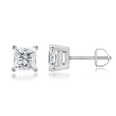 2.00 ct. t.w. Princess-Cut Diamond Stud Earrings in 14k White Gold