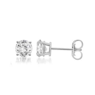 .25 ct. t.w. Round-Cut Diamond Stud Earrings in 14k White Gold