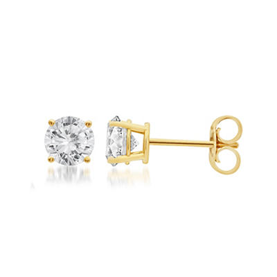 .25 ct. t.w. Round-Cut Diamond Stud Earrings in 14k Yellow Gold
