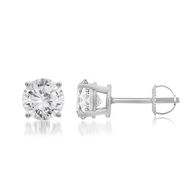 .50 ct. t.w. Round-Cut Diamond Stud Earrings in 14k White Gold